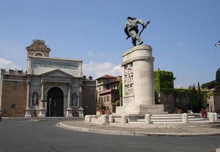 Fontane porte e monumenti a roma - San michele a porta pia ...
